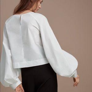 Aritizia Babaton balloon sleeve blouse. Like new!